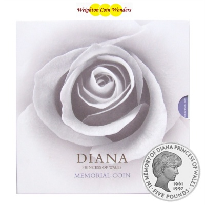 1999 BU £5 Crown Pack – Diana Princess of Wales Memorial Coin
